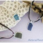 浜辺の陶器のネックレス