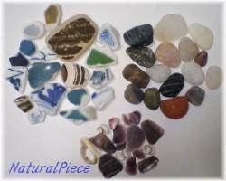 収穫した欠片 陶器。石